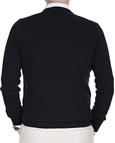 V E A Con Soffice Manica Cashmere Maglione Uomo Morbido Scolo Nero Lana Puro Lunga 100 Pullover Girocollo 1qwFPtf6