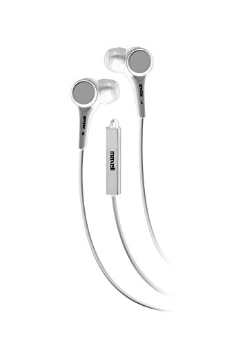Maxell Jinx Earbuds with Microphone, White (196126)