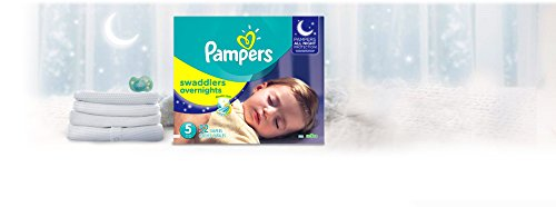 Large Product Image of Pampers Swaddlers Overnights Disposable Diapers Size 5, 52 Count, SUPER (Packaging May Vary)