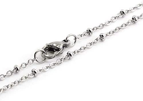 SCHSL161 5 16 Inch Sterling Silver Satellite Finished Chain 2mm Bead Wholesale Five 5 Chains