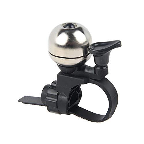 XUROM-Sport Bike Bell Adjustable Caliber Horn Bike Accessories Loud Bell Bicycle Mini Size for Men Women Kids Girls Boys Bike Bell Cycling Ringing Bike Horn (Color : Black, Size : ()