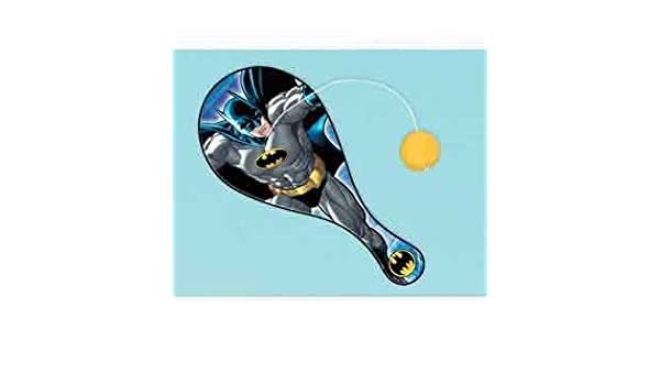 Amazon.com: Amscan Batman Paddle Ball [8 Retail Unit(s) Pack ...