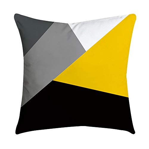 Fitted Thomasville Sheet (Weiliru Pillow Case-Yellow Stripe Pattern Standard Size 45cmx45cm Pillow Protectors Reversible Cotton Pillow Covers Decorative,Envelope Closure)