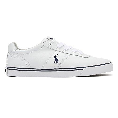 42 EU Weiss Leder Lauren Sneaker Schuhe Size Ralph Polo Halford nz8PRwx