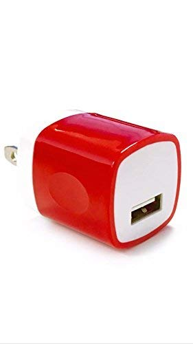 Price comparison product image 1 USB Wall Charger,  HLCT 1A Universal USB Wall Charger Adapter for Apple iPhone and iPad,  Samsung Galaxy,  HTC,  LG,  Huawei,  Nexus Smartphones and Tablets (Red)