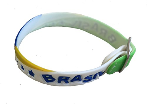 Brazil 's Flag Bracelet Wristband 2018 Russia World Cup Football Soccer Team Tangas do Brasil