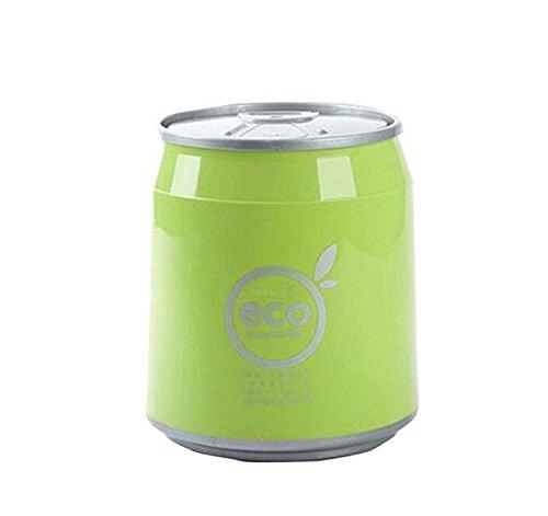 JinZhiCheng Green Color Creative Plastic Desktop Trash Bin Mini Pen Container Trash