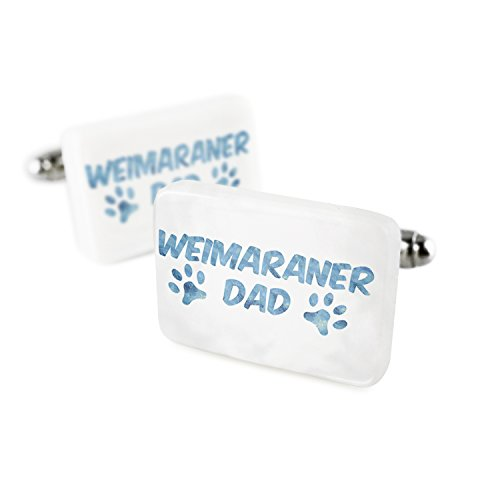 Cufflinks Dog & Cat Dad Weimaraner Porcelain Ceramic NEONBLOND