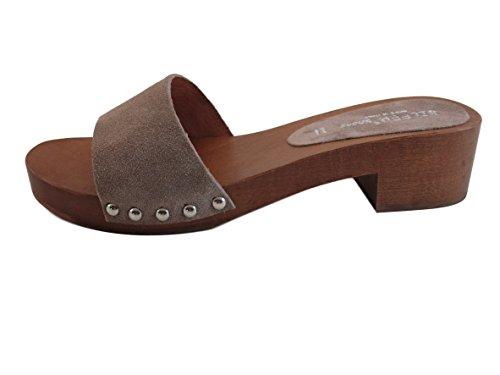 Silfer Shoes - Zuecos de Piel para mujer beige beige taglia unica