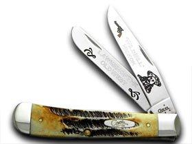 ケースXXコレクターのワイルドビルヒコック1 /600トラッパーのボーンStagポケットナイフナイフ B077S2CY15