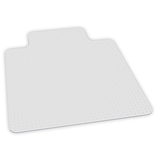 ES Robbins EverLife Anchor Bar Lipped Vinyl Chair Mat for High Pile Carpet, 46 by 60-Inch, Clear by ES Robbins