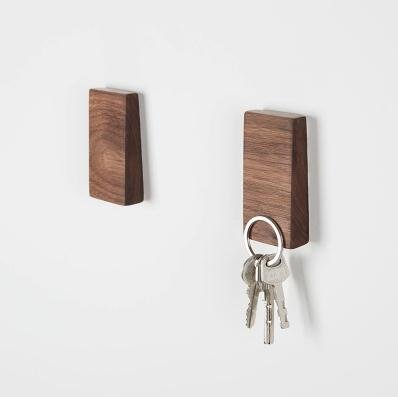 Walden Theory™ Minimalistic Magnetic Wooden Key Holder...