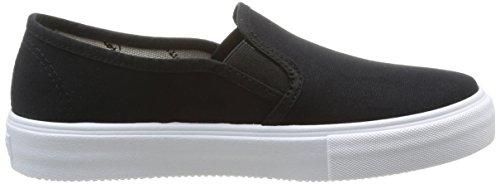 Calego Lona Da On Unisex Adulto Nero negro noir Slip Sneakers xw7BPq