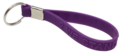 Purple Ribbon Awareness Silicone Key Chain Buy 1 Give 1 -- 2 Keychains for $9.99 - Awareness Key Chain