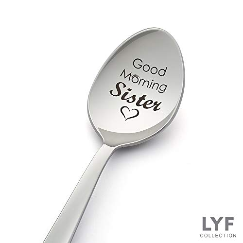 Good Morning Sister Spoon-Engrave Spoon for sister gift-sister in law gift-sister birthday gift-sister in law-sister wedding gift-sister gift ideas (Best Birthday Gift For Sister In Law)