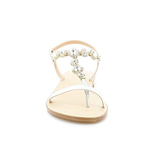 flat Argento Queen Helena 6003 Toocool infradito gioiello ciabatte donna Scarpe strass sandali qR0ARw