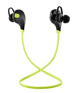 Toysdone Wireless Headphones Stereo Earbuds Wireless Sport Earphones for Running with Mic (6 Hours Play Time, IPX4 Sweatproof, Secure Ear Hooks Design)-Black/Green