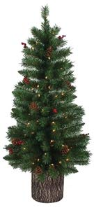 Santa Christmas Tree Forest - Santas Forest Pre-Lit Christmas Tree, 4 ft H, Clear