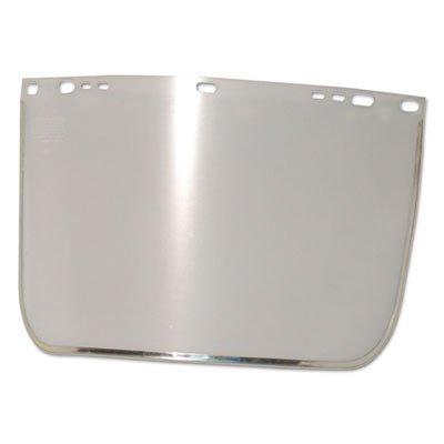 Face Shield Visor, 15 1/2'' x 9'', Clear, Bound, Plastic/Aluminum
