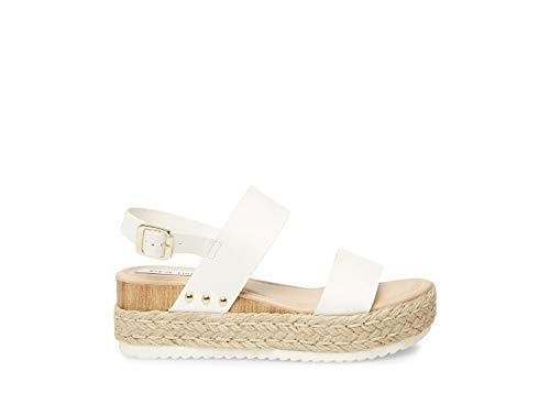 Steve Madden Women's Cici White Leather Sandal 7 US