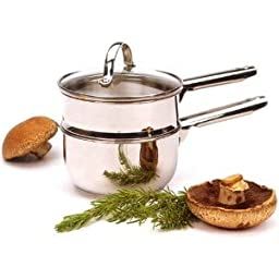 RSVP Endurance 18/8 Stainless Steel Double Boiler, 1 Quart