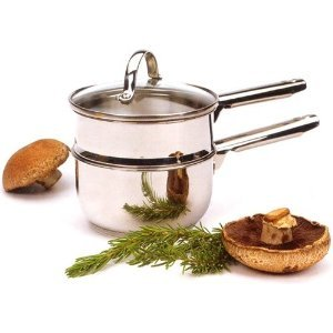 RSVP Endurance 18/8 Stainless Steel Double Boiler, 1 (With Lid Double Boiler)