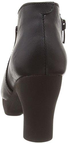 El Naturalista Nc06 Ibon Black/ Octopus, Botas Efecto Arrugado para Mujer Negro (BLACK N01)