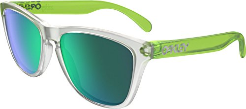 Oakley Men's Frogskins (a) Non-Polarized Iridium Rectangular Sunglasses, Matte Black, 54.02 mm
