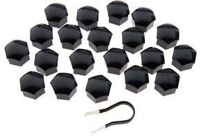 Wheel Nut Covers - Black for 21mm Wheel Nuts PerformanceAlloys.com CAP21BLK