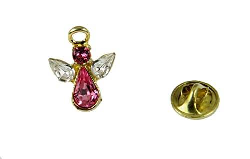 6030614 June Crystal Birth Month Angel Pin Guardian Lapel Brooch Tie Tack