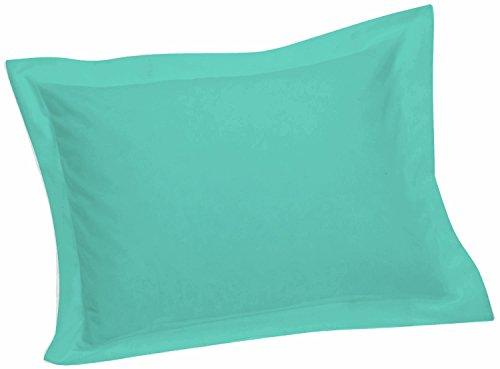Crescent Tailored Comfy Easy Care Pillow Sham Standard (Aqua)