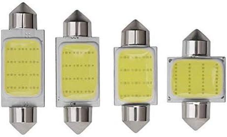 ZYQ 5 UNIDS C3W C5W C10W Festoon LED Coche COB luz de la Puerta Luz de troncal Lampara Matricula de la matricula 31MM 36MM 39M 41MM Blanco 12V Car Styling (Emitting Color : 31mm)