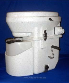 Nature's Head Dry Composting Toilet with Standard Crank Handle (Composting Toilet)