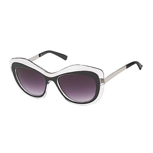 de Negro correa forma UV color ondulado especial de metal mujeres las Net de Chic Gafas sol púrpura 400 de teñido w6xqFHWPnR