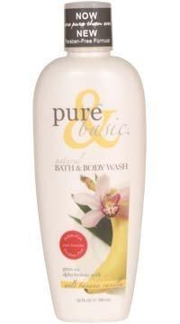 Pure & Basic Natural Bath and Body Wash Wild Banana Vanilla -- 12 fl - Wild Free Banana Paraben