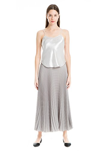Hammered Satin Top Camisole Shiny Silver