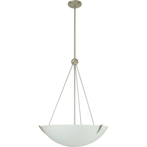 Monument 2479570 Three Light Pendant With Sandblasted Glass - Sandblasted Pendant Lamp