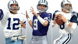 McFarlane Toys NFL Sports Picks Exclusive Dallas Cowboys QB Chronology Action Figure 3-Pack (Roger Staubach, Troy Aikman & Tony Romo) by NFL