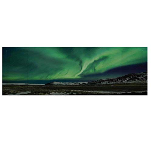 Northern Lights Microwave Oven Cover with 2 Storage Bag,Flash of Aurora Polaris Above Mountains in Night Picture Cover for Kitchen,36