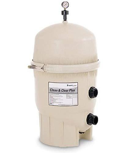 Pentair 160332 Clean & Clear Plus Fiberglass Reinforced Polypropylene Tank Cartridge Pool Filter, 520 Square Feet, 150 GPM ()