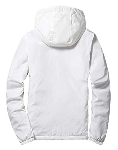 Mogogo Jacket up Thicken White Outwear Varsity Mens Zip Pure Windbreaker Coat ZCrZq