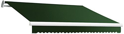 Awntech 20-Feet MAUI EXE Model Manual Retractable Awning, 20-Feet Width by 10-Feet Diameter, Forest Green
