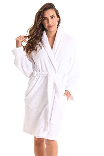 Just Love Kimono Robe Bath Robes for Women 6311-White-XL