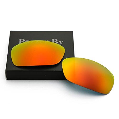 Polarized Replacement Lenses for Oakley Crankcase - Orange Red Mirrored - Polarized Crankcase Oakley Lenses