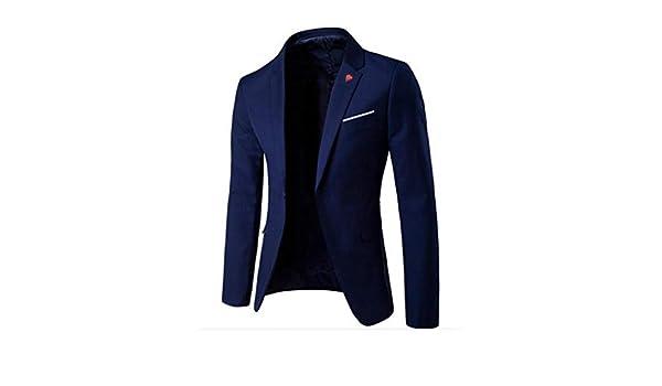 Ndgda - Blazer de Negocios para Hombre, Elegante, con un botón ...