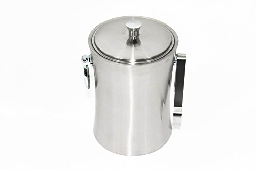 Elm Cove Stainless Steel Ice Bucket - Set with Lid