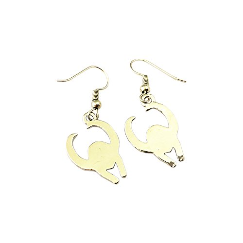 Marvel Loki Helmet Logo Earring Dangles In Gift Box from Outlander (Loki Helmet Costume)