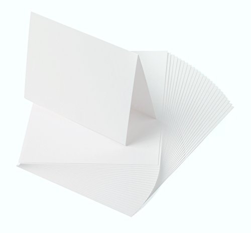Crane's Lettra 100% Cotton Scored/Folded Cards 300gsm/110lb (200 Qty) (9x6.25 (A6), Fluorescent White)