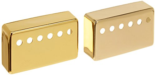 1-set(2pcs) Humbucker Neck & Bridge Guitar Pickup Covers Gold