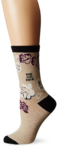 Life is good Women's Floral Crew Sock
